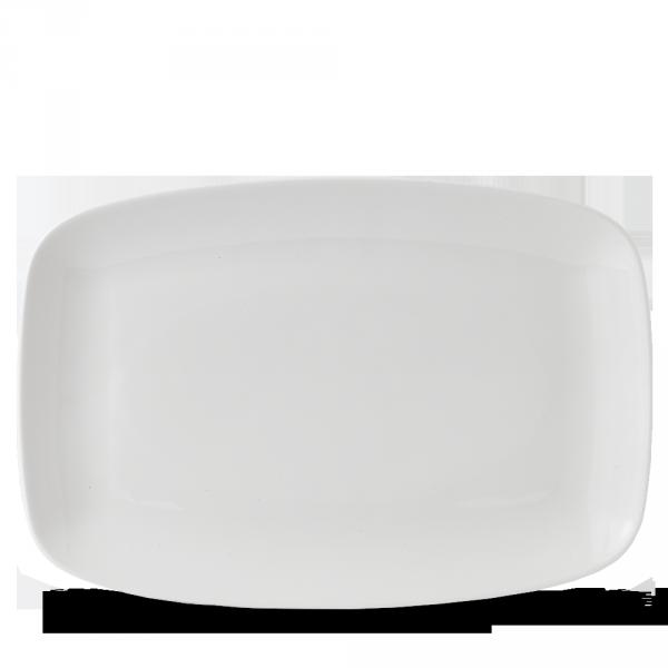 """White Oblong Chefs Plate 13 5/8X9 1/4"""" Box 6"""