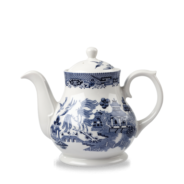 Blue Willow Sandringham Tea/Coffee Pot 30Oz 4/box