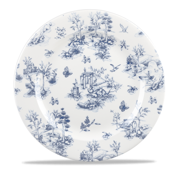 "Toile Prague Profile Plate 12"" Box 6"