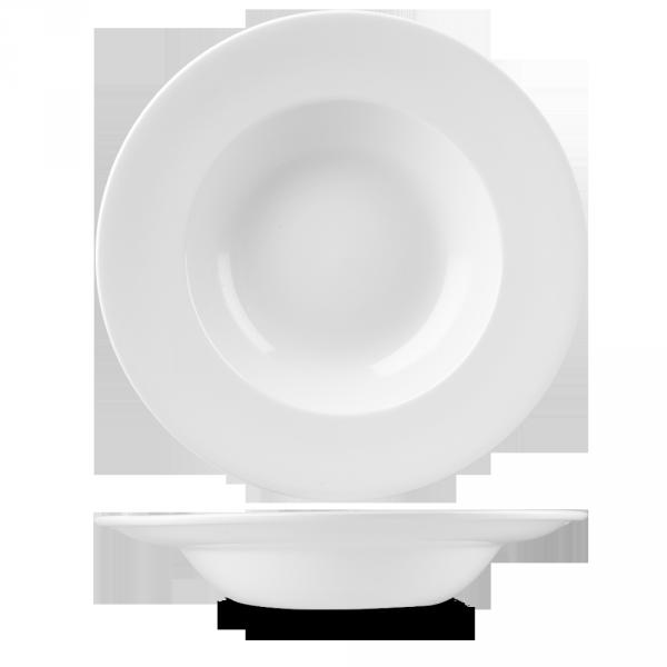 "White Profile Wide Rim Bowl Large 10.90"" 12/box"
