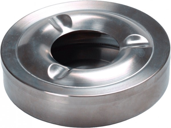 Ashtray stainless steel windproof Ø 11 cm