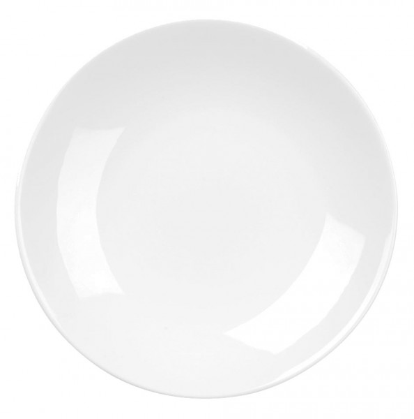 "Alchemy Balance White Coupe Plate 12"" 6/box"