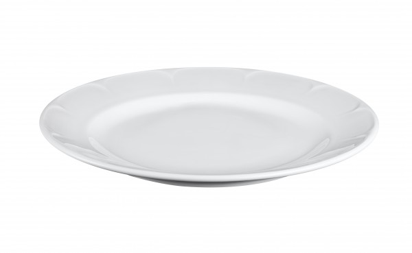 Plate with pattern on the rim