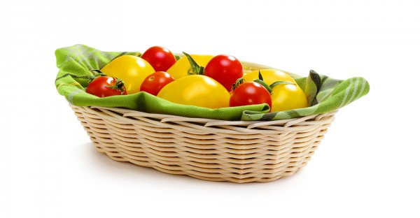 Handwoven baskets oval 18 x 12,5 x 5 cm