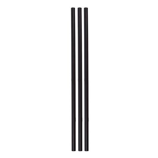 ECO rietjes zwart zonder buigstuk 6 Ø 20 cm