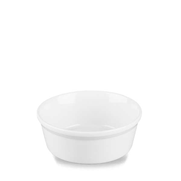 "White Cookware Round Pie Dish 5.25"" 12/box"