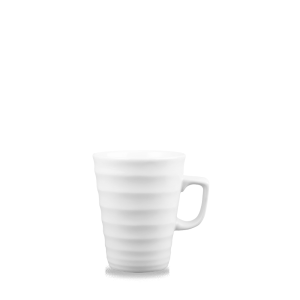 White Ripple Latte Mug 12Oz 12/box