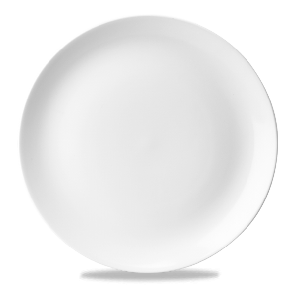 """White Evolve Coupe Plate 11.25"""" 12/box"""
