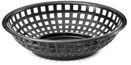 Basket Round PE Black 12/box