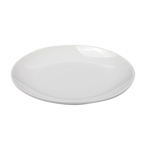 Flat Round Coupe Plate White Ø 17 cm
