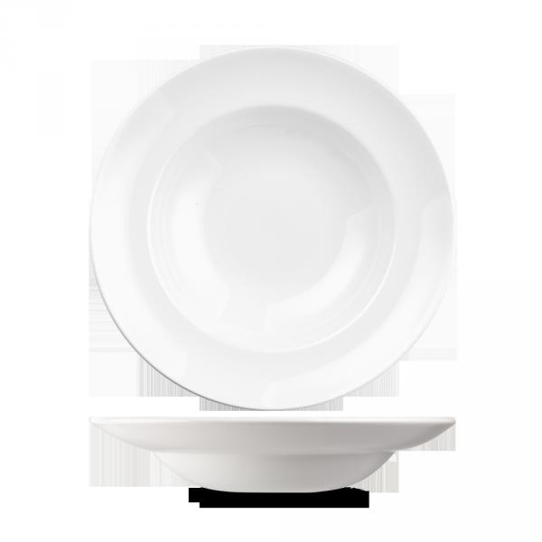 "White Equation Pasta Bowl 10"" 12/box"