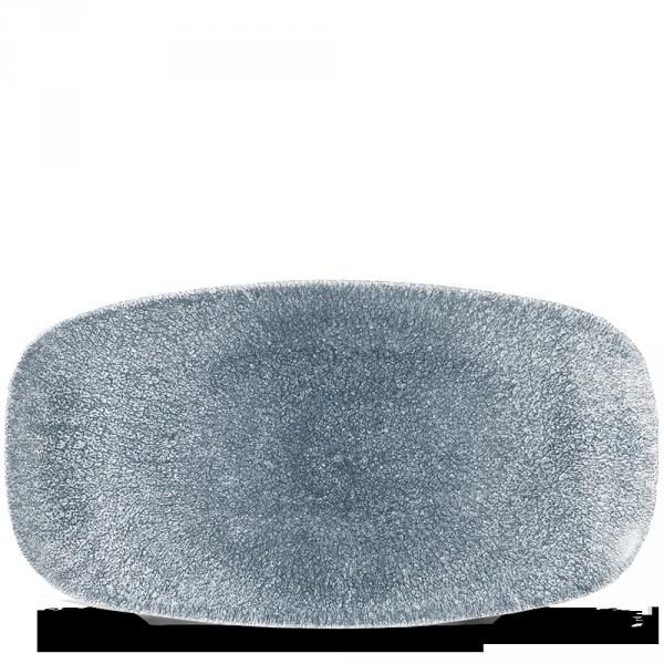 """Raku Topaz Blue Chefs Oblong Plate 13 7/8X7 3/8"""" 6/box"""