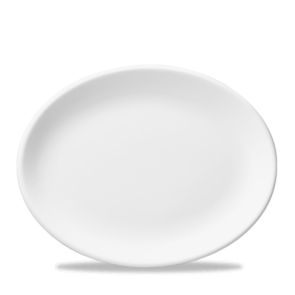 "White Oval Plate 14.25"" Box 12"