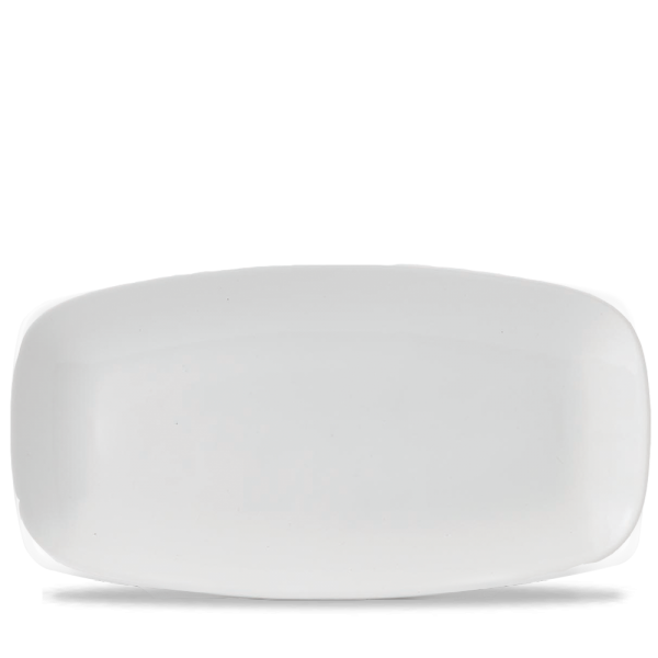 "White Chefs Oblong Plate 11 3/4X6"" 12/box"