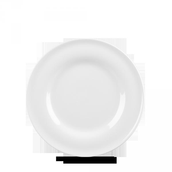 """White Contempo Plate 6.5"""" 12/box"""