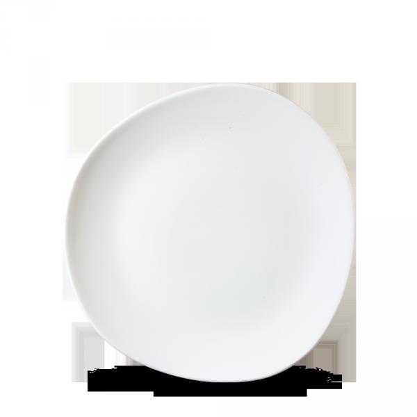 "White Round Trace Plate 10 3/8"" 12/box"