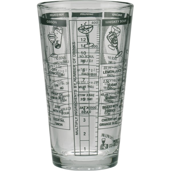 Mixing Glass with Recipes 473 ml