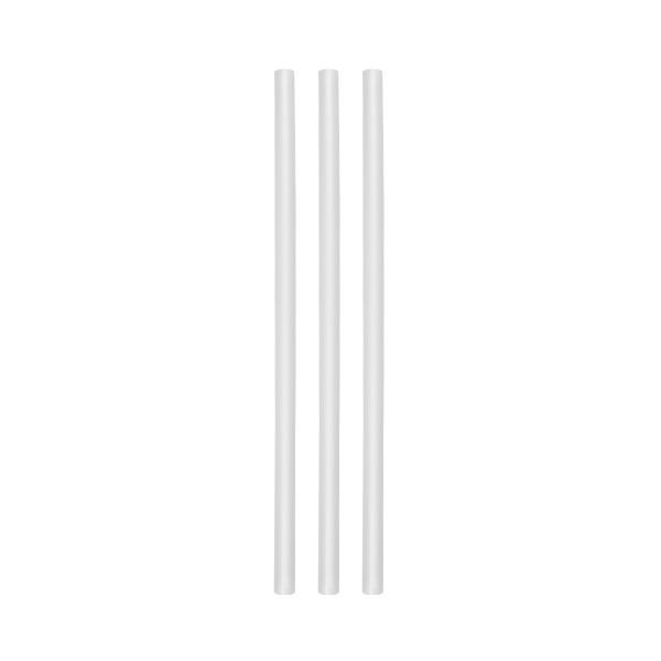 ECO rietjes transparant zonder buigstuk 8 mm Ø25 cm 250/box
