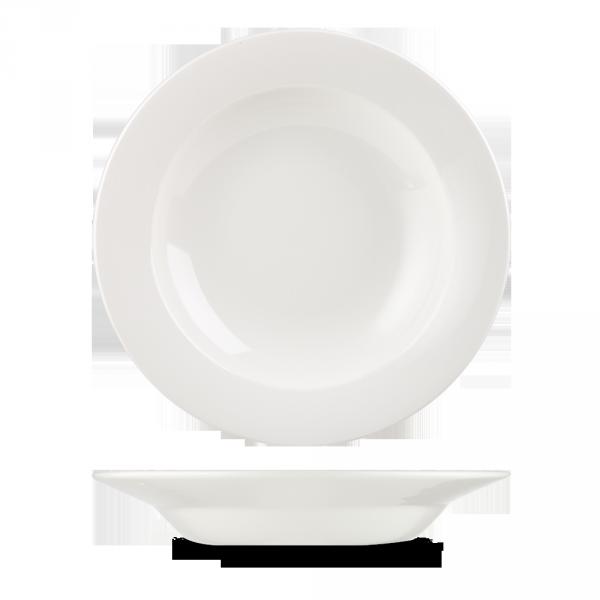 """White Classic Pasta Bowl 11"""" 12/box"""