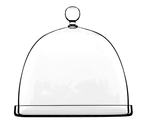 Luigi Bormioli Cheese Platter with Dome