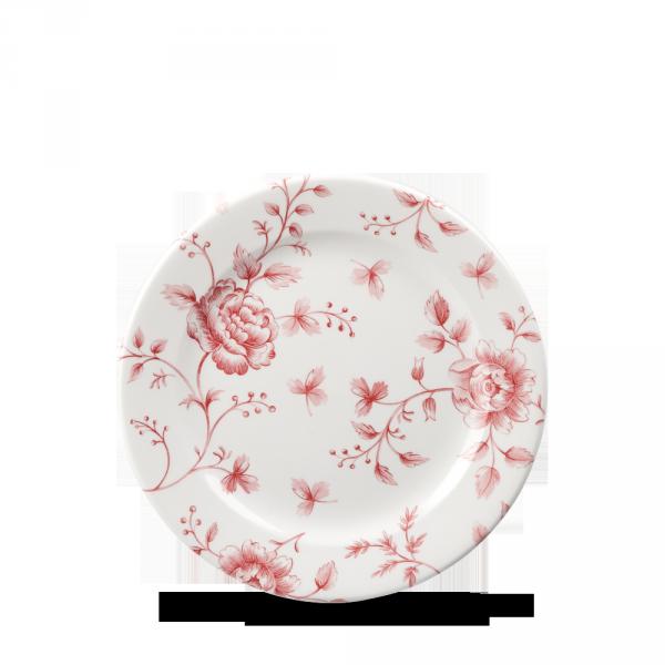 "Rose Chintz Cranberry Profile Plate 6.5"" 6/box"