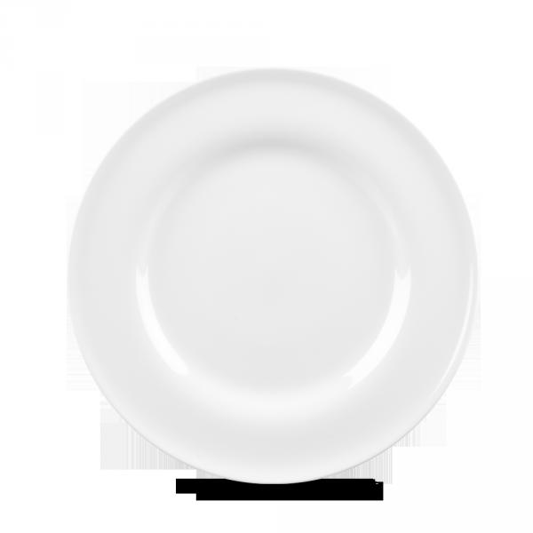 """White Contempo Plate 9"""" 12/box"""