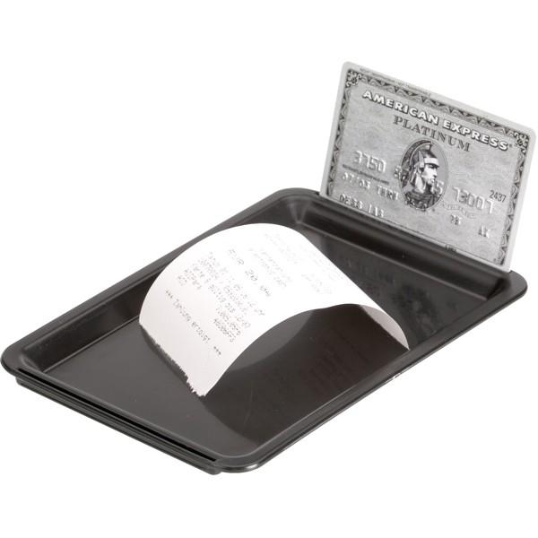 Tip Tray black plastic 16,5*11*1 cm