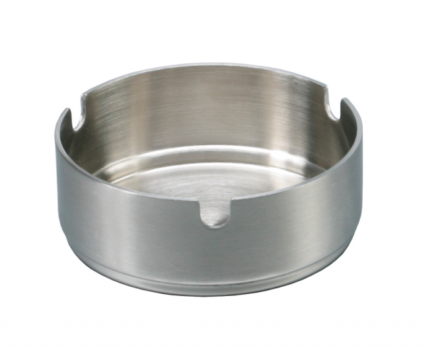 Ashtray stainless steel stackable Ø 8 cm