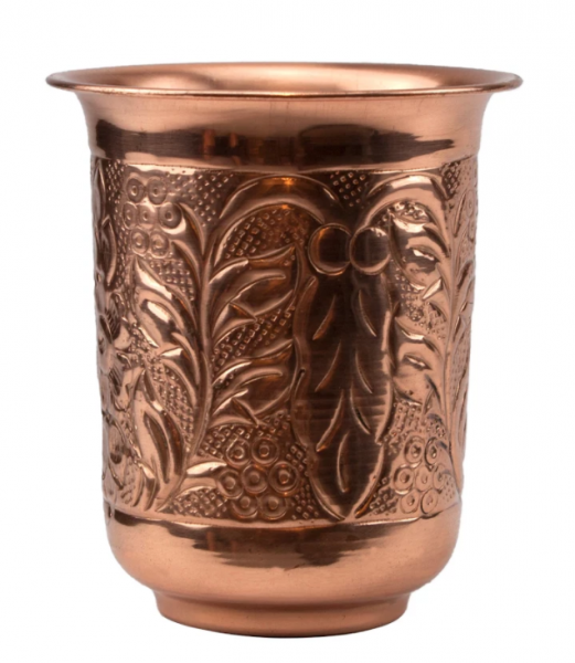 Embossed Copper Mug 296 ml * 10 cm * Ø 8,6 cm 24/box