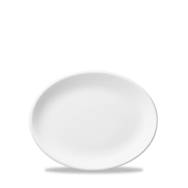 """White Oval Plate 9"""" 12/box"""