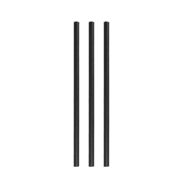 Paper straws eco black 8*230 mm