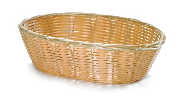 Handwoven Polypropylene Basket Oval 12/box