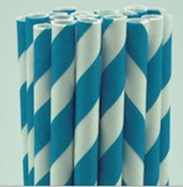 Paperstraw bluewhite 8*255 mm