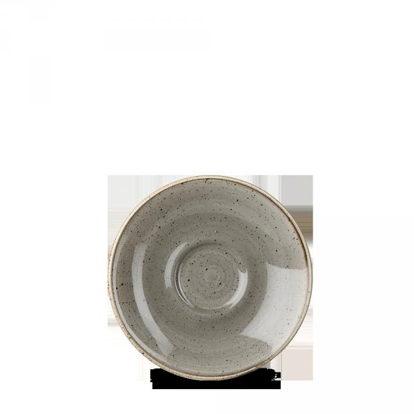 """Stonecast Grey Espresso Saucer 4.5"""" 12/box"""