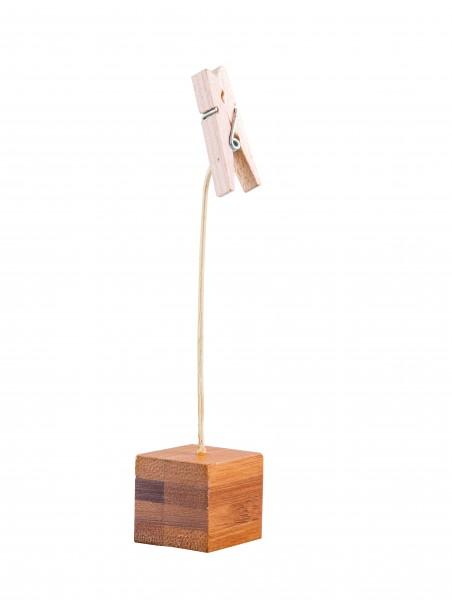 Square Bamboo, Clothes Peg Clip, 13cm