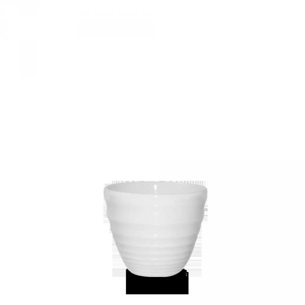 White Ripple Dipper Pot 4Oz 12/box