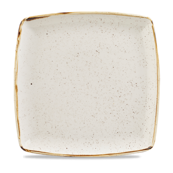 "Stonecast Barley White Deep Square Plate 10.25"" 6/box"