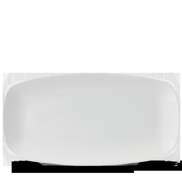 """White Oblong Chefs Plate 13 5/8X7 1/4"""" Box 6"""