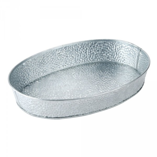 Galvanized Collection Oval Diner Platter 1/box
