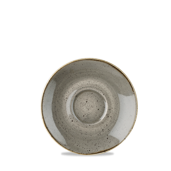 "Stonecast Grey Cappuccino Saucer 6.25"" Box 12"