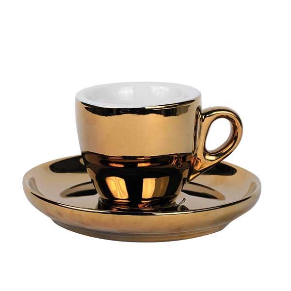 Espresso kop en schotel gold 55 ml