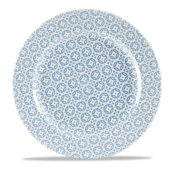 "Moresque Blue Profile Plate 12"" 12/box"