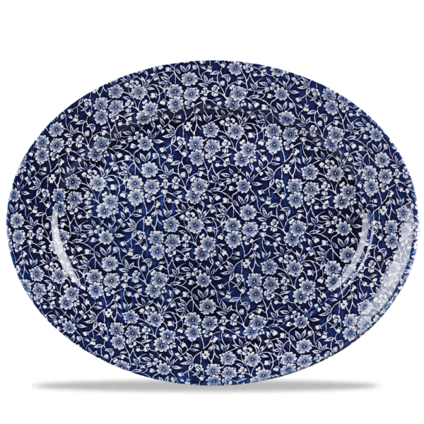 """Victorian Calico Willow Classic Oval Plate 14.375"""" 6/box"""