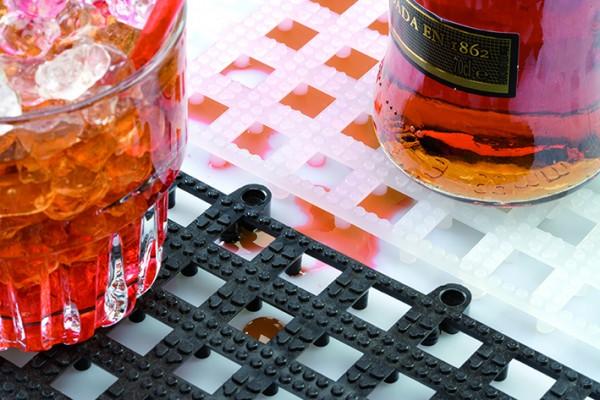 DriDek interlocking glass mat clear 30,5*30,5*1 cm