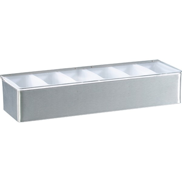 Condiment Holder stainless steel 6*1 pint
