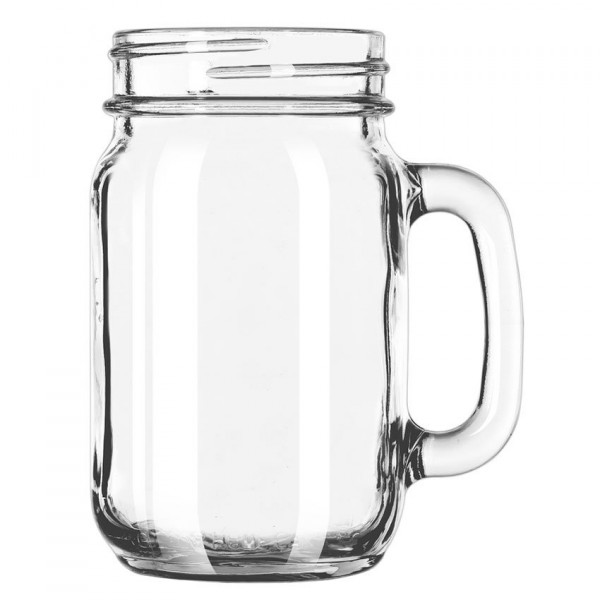 Drinking Jar Economy Line with handle 473 ml