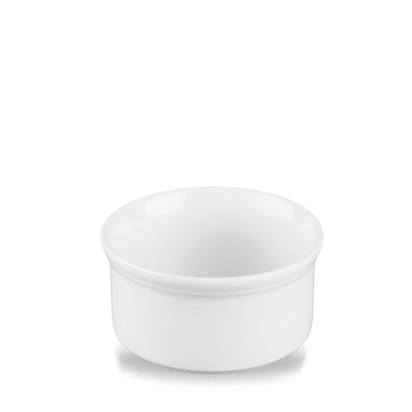 White Cookware Souffle Dish 12Oz 12/box