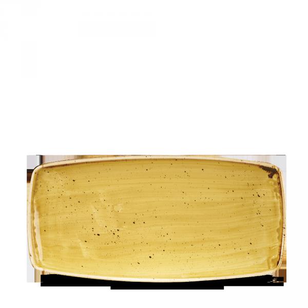 "Stonecast Mustard Oblong Plate 11.75"" Box 12"