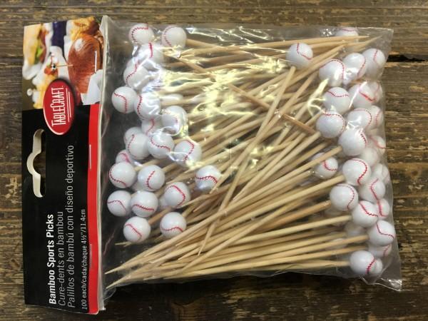 Bamboo Picks Sport Baseball 11,5 cm