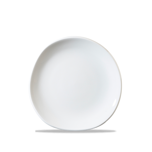 "White Round Trace Plate 7 1/4"" Box 12"